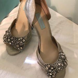 Betsey Johnson rhinestone shoes